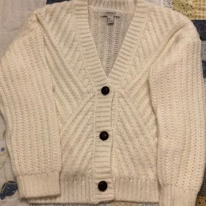 White Cream Knit Cardigan